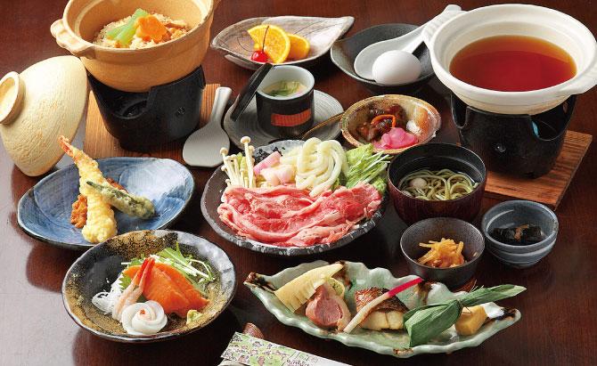 近江牛すき焼と土鍋めし会席