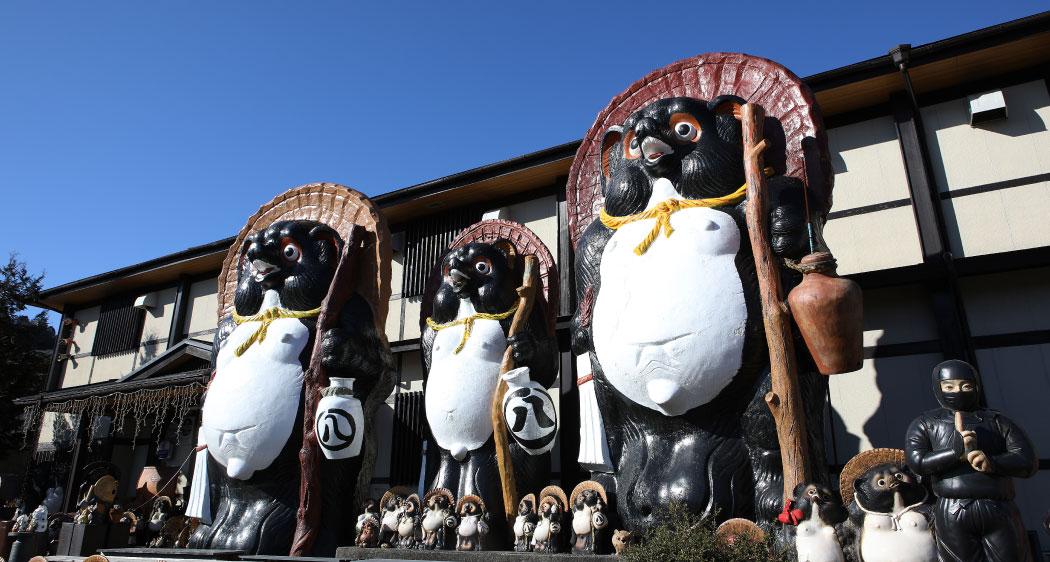 日本一、大きなたぬきがお出迎え!